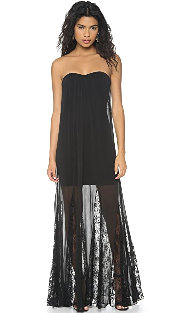 alice + olivia Francesca Strapless Maxi Dress