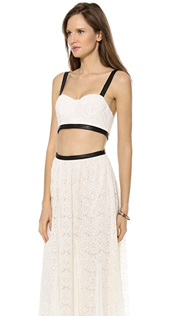 alice + olivia Sveva Bustier Maxi Dress