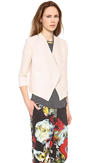 alice + olivia Oliver Draped Shawl Collar Blazer
