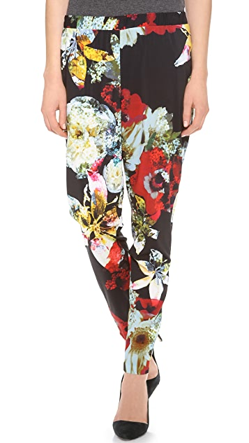 alice + olivia Gathered Floral Pants