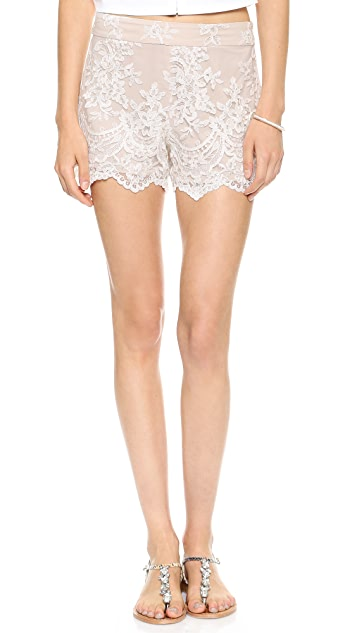 alice + olivia High Waisted Lace Short
