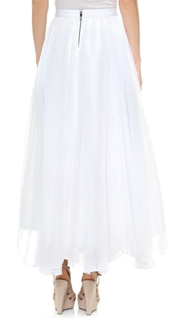 alice + olivia Bethie Pleated Maxi Skirt