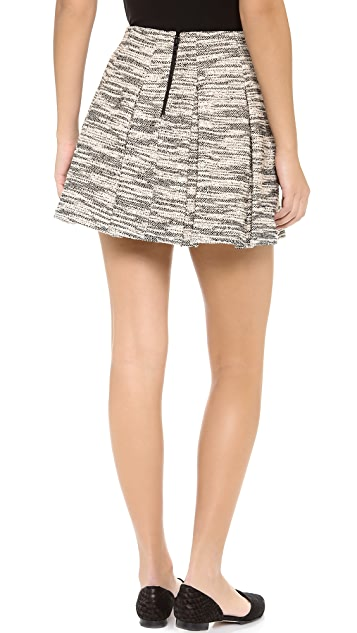 alice + olivia Davis Pleated Pouf Skirt