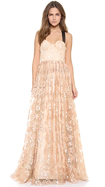 alice + olivia Chris Bustier Ball Gown | SHOPBOP