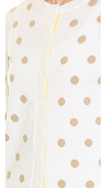 alice + olivia Basic Crew Neck Cardigan