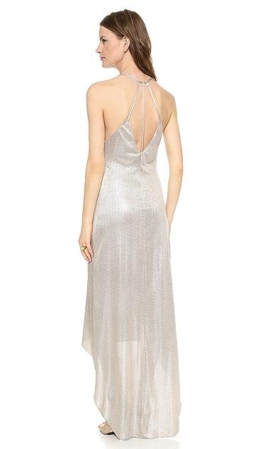 alice + olivia Lena High Low Strappy Dress