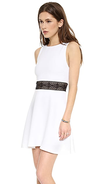 alice + olivia Rowan Cutout Waist Dress