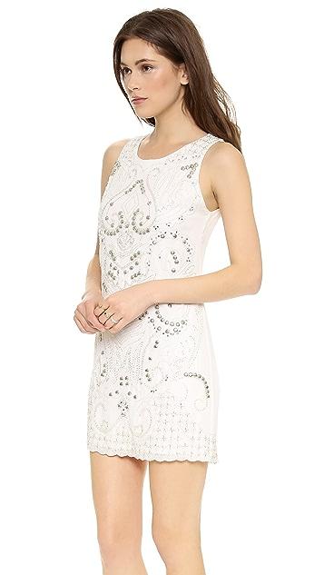 alice + olivia Jame Embellished Triangle Dress
