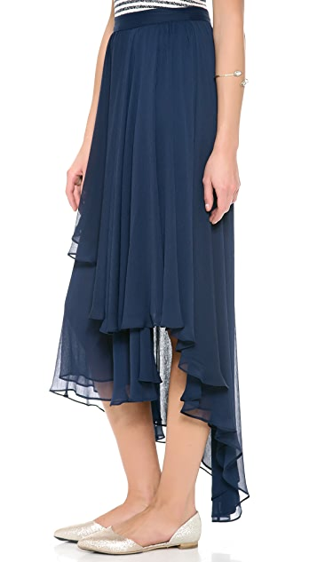 alice + olivia Andy High Low Maxi Skirt