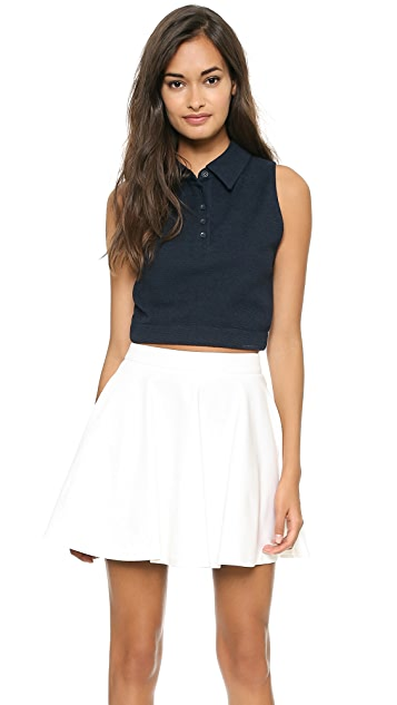 alice + olivia Marco Cropped Polo Tank