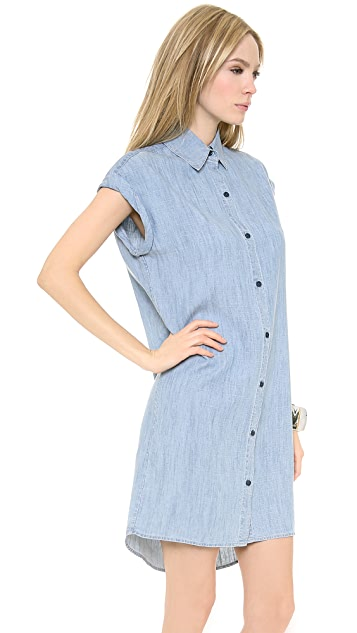 alice + olivia Loren Denim Shirt Dress