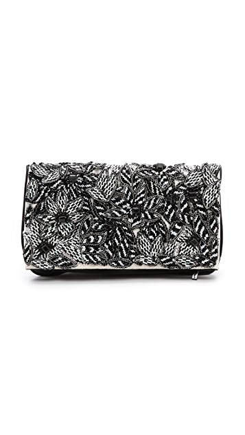 alice + olivia Me Beaded Clutch