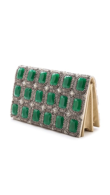 alice + olivia Be Beaded Clutch