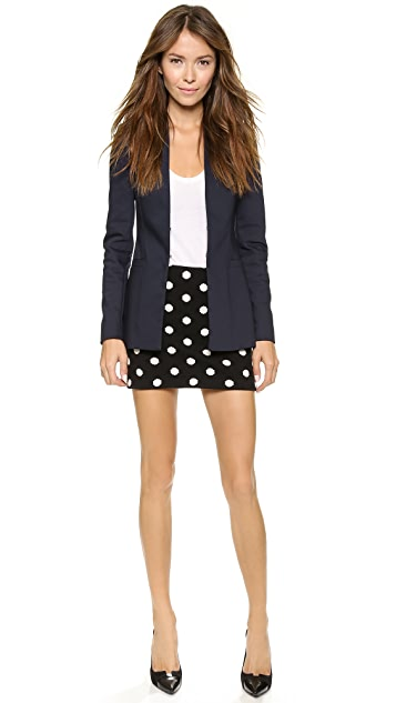 alice + olivia Long Open Front Collarless Blazer