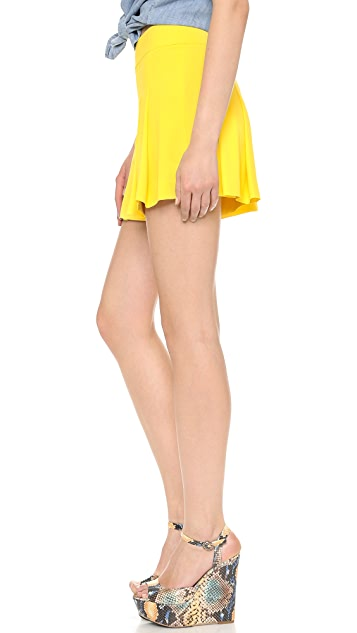 alice + olivia High Waisted Pleated Shorts