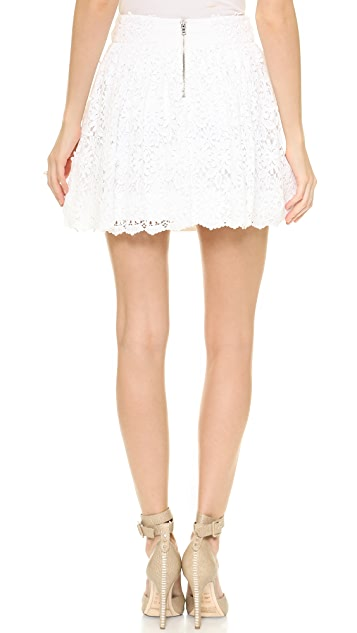 alice + olivia Gilberto Lace Box Pleat Skirt
