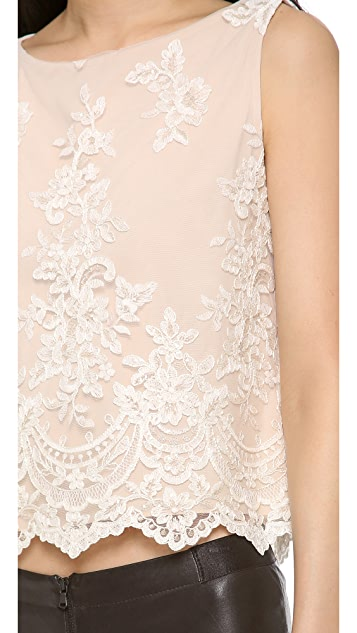 alice + olivia Amal Embellished Top