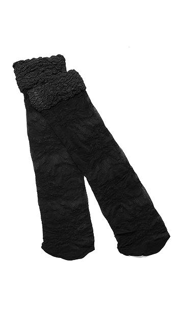 alice + olivia Lace Ruffle Top Knee High Socks