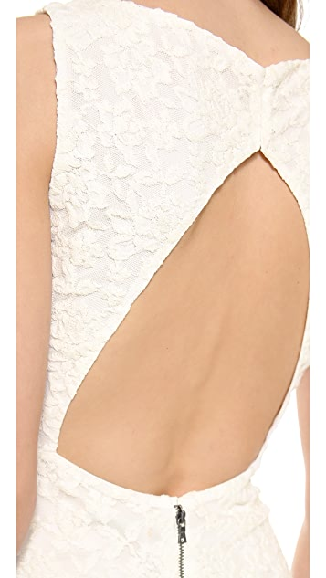 alice + olivia Sachi Open Back Gown