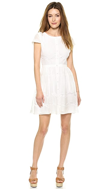 alice + olivia Alisha Peasant Dress