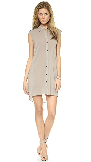 alice + olivia Carol Button Down Dress