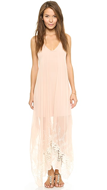 alice + olivia Handkerchief Maxi Dress