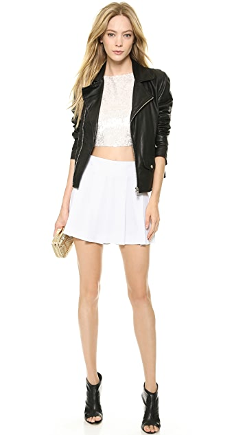 alice + olivia Pire Sequin Crop Top