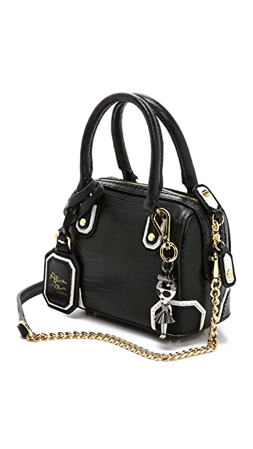 alice + olivia Mini Olivia Embossed Satchel