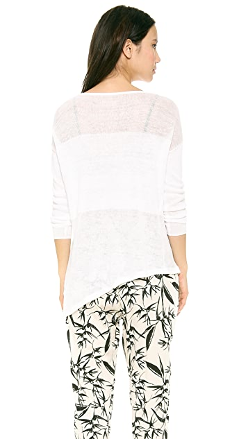 alice + olivia Catherine Sheer Combo Sweater