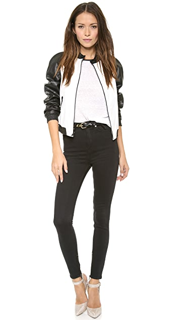 alice + olivia Sterling Leather Shirt
