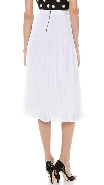 alice + olivia Pleated Midi Skirt