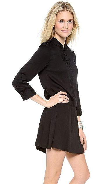 alice + olivia Yvonne Pintuck Dress