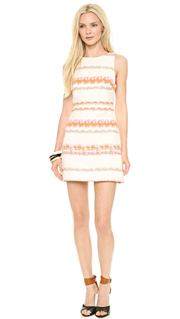 alice + olivia Eli Boatneck Dress