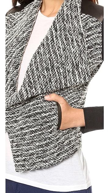 alice + olivia Burma Draped Lapel Jacket