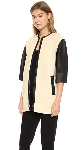 alice + olivia Structured Drop Shoulder Coat