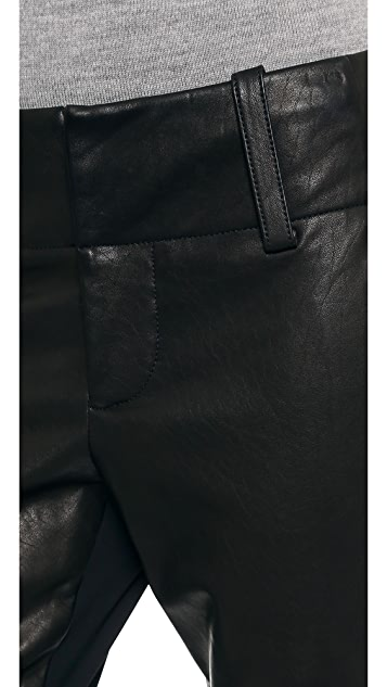 alice + olivia Leather Combo Anders Pants