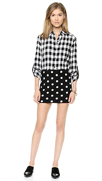 alice + olivia Elana Polka Dot Miniskirt