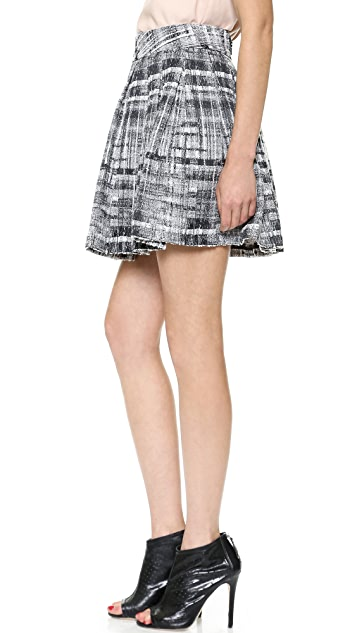 alice + olivia Kayla Box Pleat Skirt