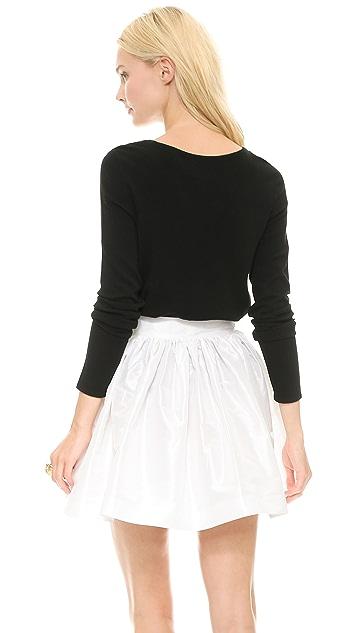 alice + olivia Intarsia Legs Boxy Sweater