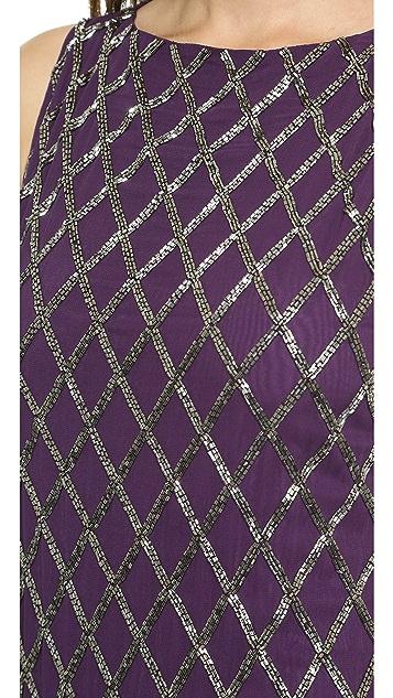 alice + olivia Dalyla Beaded A Line Dress