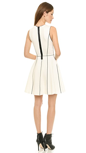 alice + olivia Seamed Fit & Flare Dress