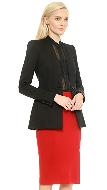 alice + olivia Fitted Slim Blazer