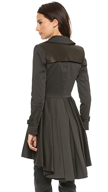alice + olivia Double Breasted Trench
