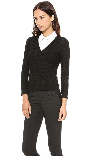 alice + olivia V Neck Collared Sweater