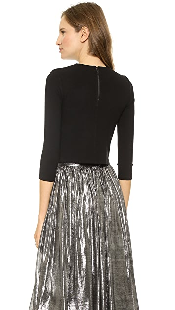 alice + olivia Side Zip Top