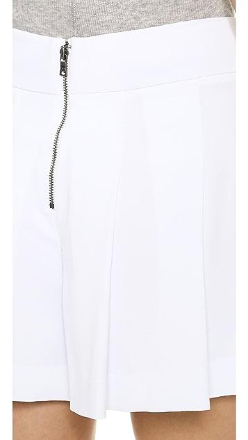 alice + olivia Highwaisted Pleated Flutter Shorts