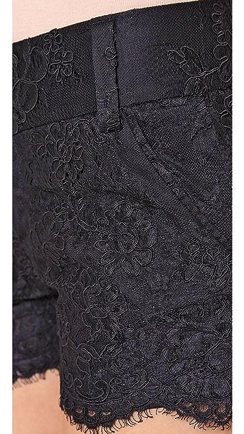 alice + olivia Lace Scallop Shorts