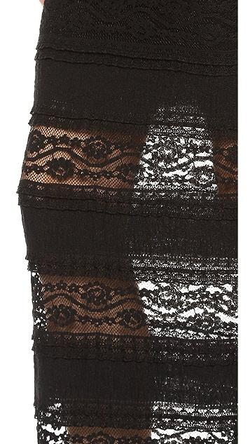 alice + olivia Ettley Lace Maxi Skirt