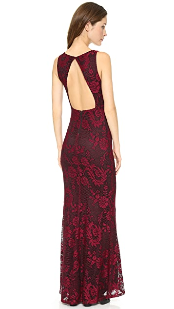 alice + olivia Sachi Open Back Maxi Gown