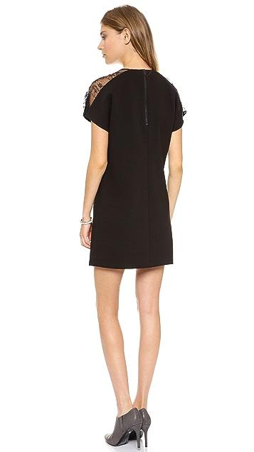 alice + olivia V Neck Lace Combo Dress